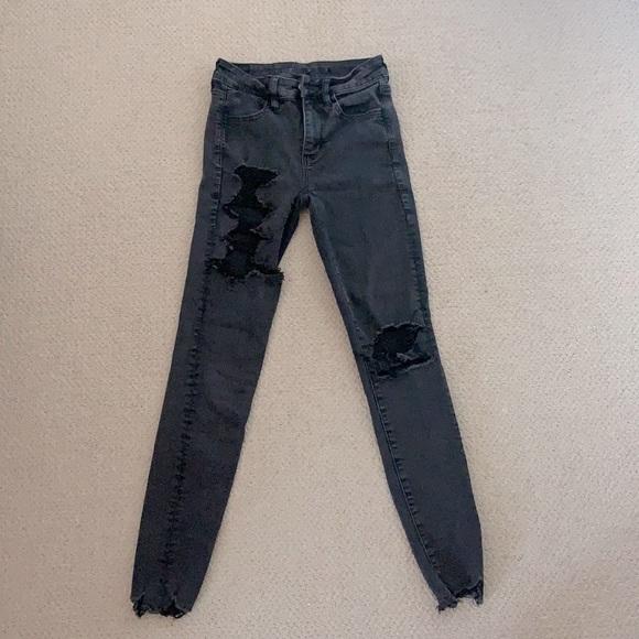 AEO| NEXT LEVEL STRETCH distressed jeans
